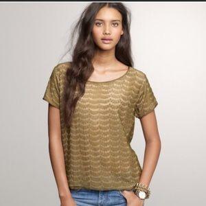 J Crew lace blouse